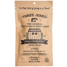 Three Jerks Jerky Filet Mignon Maple Bourbon Churro - 2 Ounces Jerky(S)