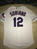 Rare Alfonso Soriano Authentic Texas Rangers On-Field Majestic Jersey 48 XL