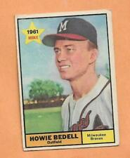 HOWIE BEDELL ROOKIE TOPPS 1961 CARD # 353