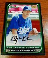 CLAYTON KERSHAW 2008 Bowman Rookie Card RC Los Angeles Dodgers HOT No Hitter CY