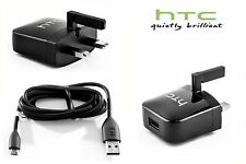 GENUINE HTC TCP800 MAINS CHARGER + HTC USB CABLE FOR DESIRE ONE M8 M7 610 310