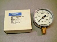 "Ashcroft 25W1005H02LXZC Commercial 2-1/2"" Pressure Gauge 0-3000 PSI"
