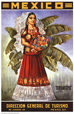 VINTAGE MEXICAN ART PRINT - Tehuantepec MEXICO 27x18 Travel Poster