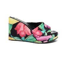 Vintage Made In Italy Floral Platform Slip Ons Size 10