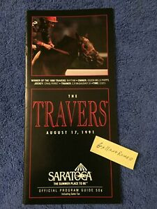 RARE M!NT 1991 TRAVERS PROGRAM HANSEL FLY SO FREE STRIKE THE GOLD KENTUCKY DERBY