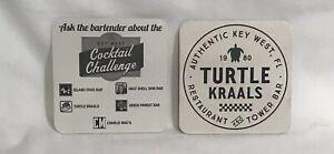 TURTLE KRAWLS   Key West FL Beer Collectible Coaster Brewery X2 Defunct