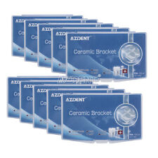 3M Style Dental Orthodontic Ceramic Brackets Roth.022 345 Hooks Marked Braces