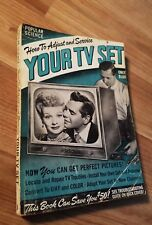 POPULAR SCIENCE TV SeT 1952 Lucille Ball Desi Arnaz I Love Lucy Marriage Godfrey