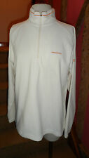 Size 14 Long Sleeve Zip Neck Fleece in Cream Polyester by Cragghoppers