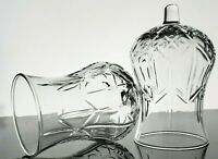 Peg Votive Candle Holder Cups Vintage Large Diamond X Clear HOMCO Candle Cups -2