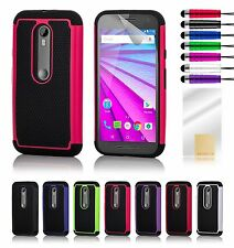 Dual Layer Shockproof Case Cover for Motorola G4 /G4 Plus/G4 Play/X/G3/X Play/G2