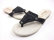 bbb7c337fe1d42 Timberland Narragansett Thong Sandal Womens Black US Size 7.5 M