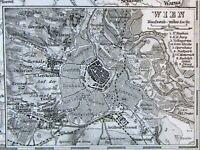 Austrian Empire Vienna Ungarn Central Europe 1866 Stieler transitional map