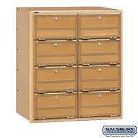 Salsbury Americana Mailbox - 8 Doors - Rear Loading 2108RL MAILER NEW
