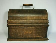 w Antique Oak Case Lid & Base for Edison Home Cylinder Phonograph Pat. 1906