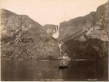 Knudsen. Norvège, Odde, Hardanger Vintage albumen print.  Tirage albuminé  2