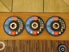 Parkside 125mm Diameter, abrasive flap discs for metal x3 K40 K60 K80