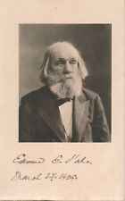 Edward Everett Hale - photo signed by the author in his last weeks (March 1909)