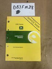 John Deere 3155 Tractor Operator's Manual Oml60017 Nos