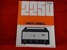 McIntosh MC 2250 Amplifier Owners Manual