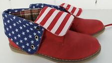 1001 SHOES - STARS & STRIPES US FLAG DESERT BOOTS - EU 39 - WORN ONCE