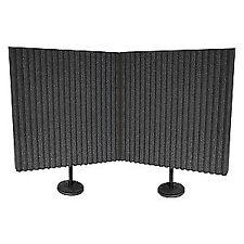 AURALEX Acoustic Panels,2 ft. W,2 ft. L,PK2, DESKMAX, Gray/Black