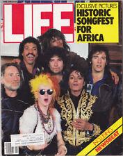 Michael Jackson LIFE We Are The World USA for Africa American USA Magazine 1985