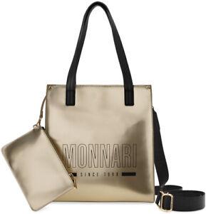 Monnari lackierte Damentasche Damen City Kosmetiktasche gold