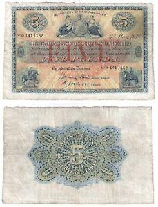 Union Bank of Scotland Ltd £5 Banknote (1938) BYB ref: SC912e - F.