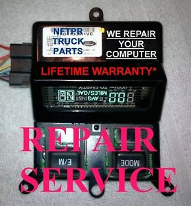 🔥FORD SUPERDUTY F250 F350 OVERHEAD CONSOLE COMPUTER REPAIR SERVICE  1999  2000