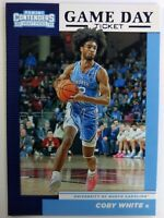 2019-20 Panini Contenders Draft Picks Game Day Ticket Coby White Rookie RC #8,