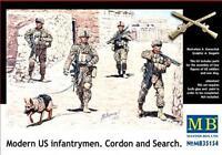 MAS35154 - Masterbox 1:3 5 - Moderne US Hommes D'Infanterie 'Cordon et