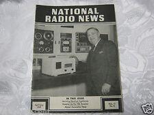 National Radio News 1949  tube vintage electronics magazine 7 RK receiver