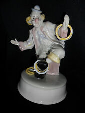 "Clown Music Box Summit Corp Vtg. 1991"" -  Porcelain Clown ""For The Good Times"""