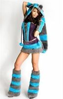 CHESHIRE CAT COSTUME ALICE FANCY DRESS OUTFIT UK SIZE 6 8 10