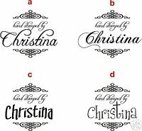 Unmounted Personalized 'Hand stamped by' rubber stamps H62