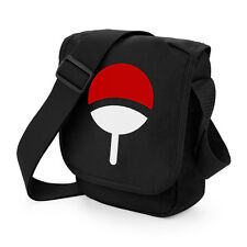 Naruto Uchiha Clan símbolo Mini Messenger Bolso Geek Anime Cosplay