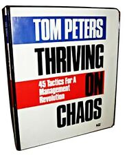 Tom Peters Thriving on Chaos Audio Book Learn 45 Business Tactics on 6 Cassettes