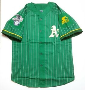New With Defects Vtg Starter Oakland Athletics Pinstripe MLB Baseball Jersey