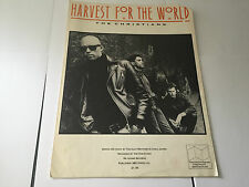 HARVEST FOR THE WORLD SHEET MUSIC CHRISTIANS RARE