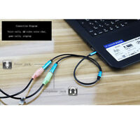3.5mm Audio Mic Splitter Y Cable Headphone-Adapter 1 Male Jack To 2 Dual Female