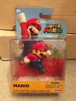 "Jakks Pacific Nintendo Super Mario 3"" Mario Running Action Figure NIB New"
