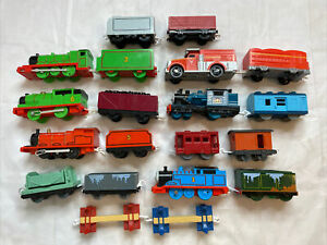 20 Pc. Thomas the Train Motorized Toy Lot Henry Percy James Thomas Emily