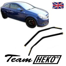 VAUXHALL ASTRA H mk5 3 Door VXR SRI GTC SET OF FRONT WIND DEFLECTORS 2pc HEKO