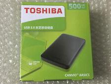 Toshiba 500GB Canvio Basics USB3.0 Portable External Hard Disk Drive Black new