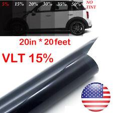 "Uncut Roll Window Tint Film 15% Vlt 20"" In x 20' Ft Feet Car Home Office Glass"