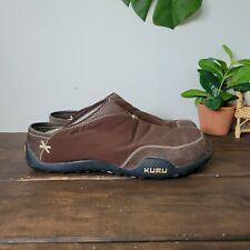 "KURU ""Draft"" House Shoes Slip on Slippers brown  Mens Sz 11"