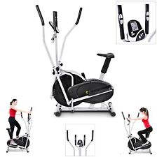 2 in 1 Elliptical Bike Cross Training Stationary Exercise Fitness Machine Dual