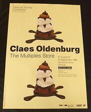 Claes Oldenburg-el cartel exposición Arte múltiplos tienda 1996
