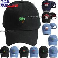 b828bb349f4 Cotton Dad Hat Baseball Cap Curved Bill Embroidered Adjustable Visor Hats  Caps